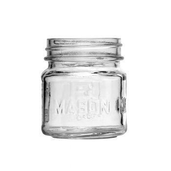 Square Mason Jar 8oz
