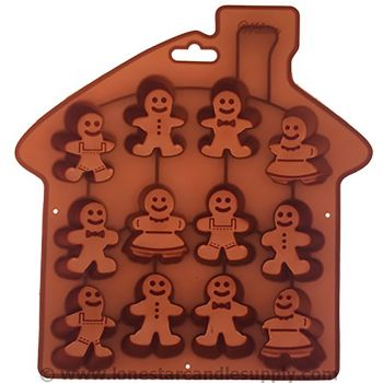 Silicone Gingerbread Mold - 12 Count