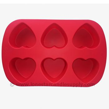 Silicone Heart Mold - 6 count