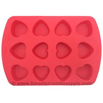 Silicone Heart Mold - 12 Count