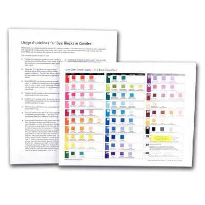 Dye Block Color Chart