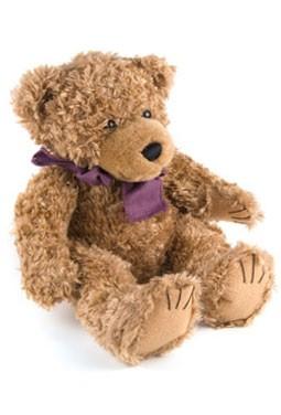 Short Hair Brown Scraggles Stuffed Bear