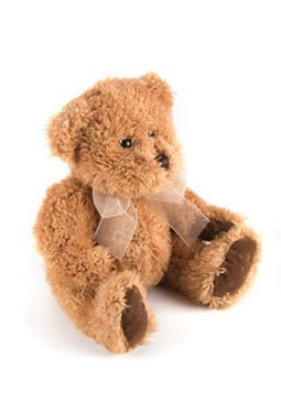 Gold Scruffy Stuffed Bear